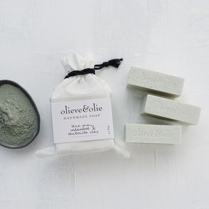 Olieve & Olie Handmade Soap - Blue Gum, Cedarwood and Bentonite Clay