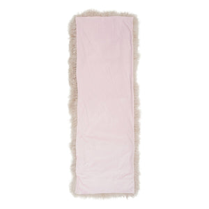 Mongolian Sheepskin Bed End Runner - Pink Blush
