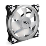 Aigo 120mm 12cm Halo Ring Green LED Fan for Computer Cases, CPU Coolers and Radiators