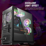 darkFlash DLM22 Micro ATX Mini ITX Tower MicroATX Computer Case with Magnetic Design Wide Open Door Opening Tempered Glass Swing Type Side Panel
