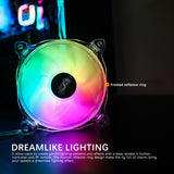 darkFlash 120mm RGB LED Case Fan for PC Cases CPU Cooling Fan Water Cooling Fan Addressable RGB Case Fan (CF8 PRO 3IN1)