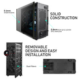 Segotep Phoenix ATX Black Mid Tower PC Gaming Computer Case USB 3.0 Ports/Graphics Card Vertical Mounting with Tempered Glass & RGB Front Panel