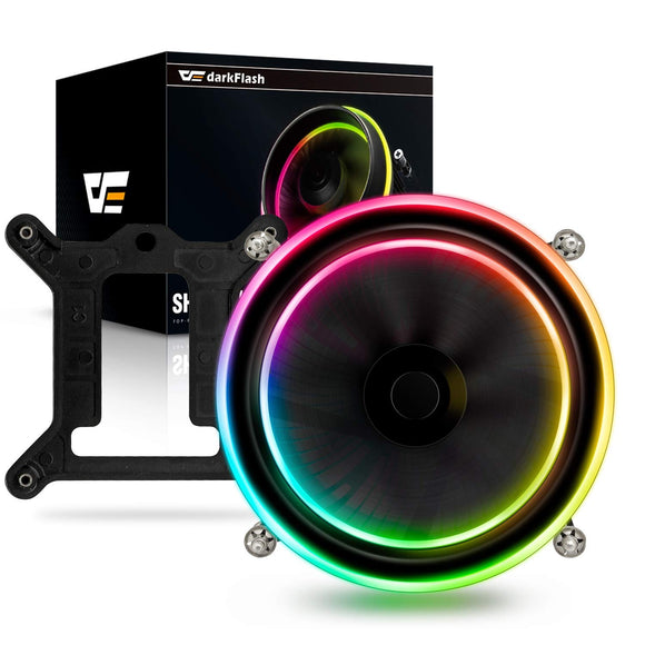 darkFlash Shadow PWM CPU LED Addressable RGB Cooler