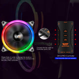 darkFlash DR12 120mm Halo Ring RGB LED Case Fan for PC Cases CPU Cooling Fan (Add-on)