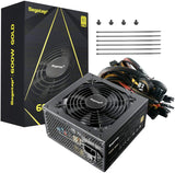 Segotep Gaming Power Supply, GP Series 80 Plus Gold Certified PSU with Silent 120mm Fan (600W, Non-Modular)
