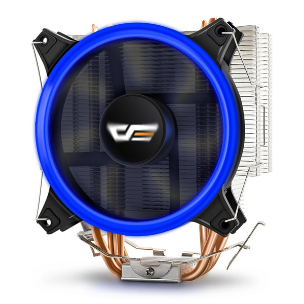 Aigo darkFlash CPU Cooler Computer PC Heatsink with Four Direct Contact Heat Pipes & 120mm PWM LED Halo Ring Fan CPU Air Cooling Radiator for Intel & AMD