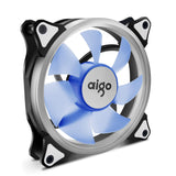 Aigo 120mm 12cm Halo Ring Blue LED Fan for Computer Cases, CPU Coolers and Radiators