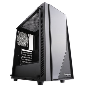 Segotep Prime XL Mid Tower Black Gaming ATX Case with Tempered Glass Panel Magnetic Dust Filter