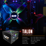 darkFlash Talon CPU Cooling Cooler LED RGB PWM Fan
