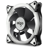 Aigo R3 3-Pack RGB LED 120mm Adjustable Color Case Radiator Fan Adjustable Color for Computer Cases, CPU Coolers, and Radiators