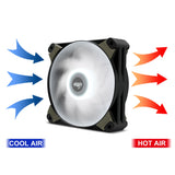 Aigo Icy 120mm 12cm Red LED Case Fan Hybrid-Design for Computer Cases, CPU Coolers, and Radiators