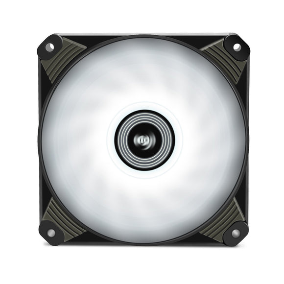 Aigo Icy 120mm 12cm White LED Case Fan Hybrid-Design for Computer Cases, CPU Coolers, and Radiators