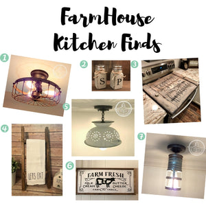 Farmhouse KITCHEN Finds on ETSY
