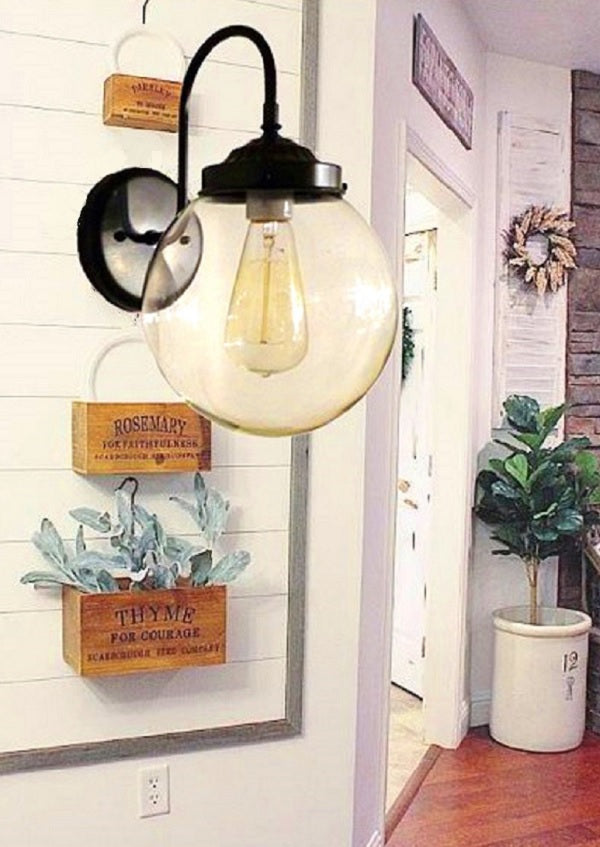 Glass Wall Sconce Lights