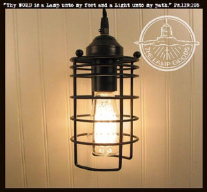 Industrial Inspired Auburn Pendant LIGHT with Edison Bulb - The Lamp Goods
