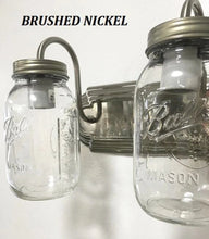 Load image into Gallery viewer, Mason Jar Vanity Light NEW Quart Trio - The Lamp Goods