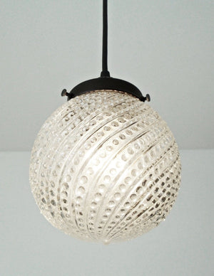 Vintage Hobnail Glass Pendant Light Fixture - The Lamp Goods