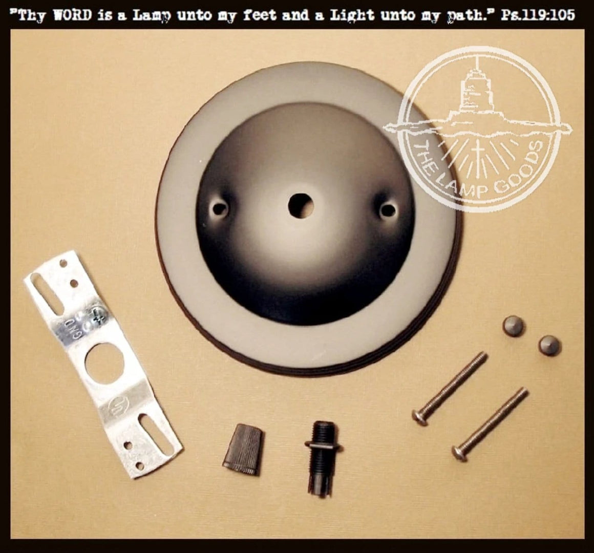 Mounting Hardware Fixture Kit CLASSIC Design Ceiling Canopy - The Lamp Goods