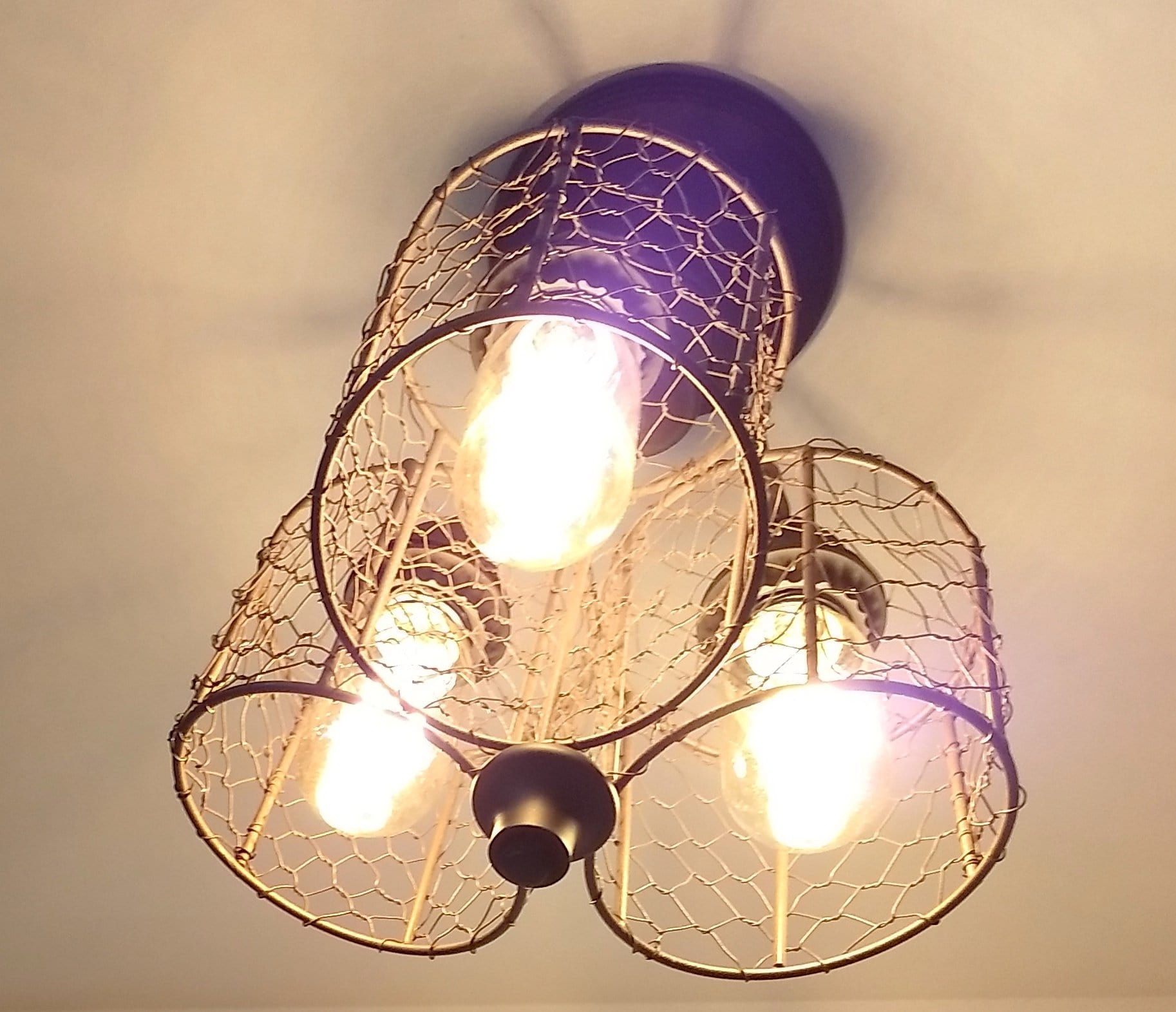 Awesome Chicken Wire Ceiling Light Trio The Lamp Goods Wiring 101 Archstreekradiomeanderfmnl