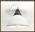 White Enamel Farmhouse Ceiling Light