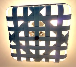 White Enamel Tobacco Basket Farmhouse Lighting - The Lamp Goods