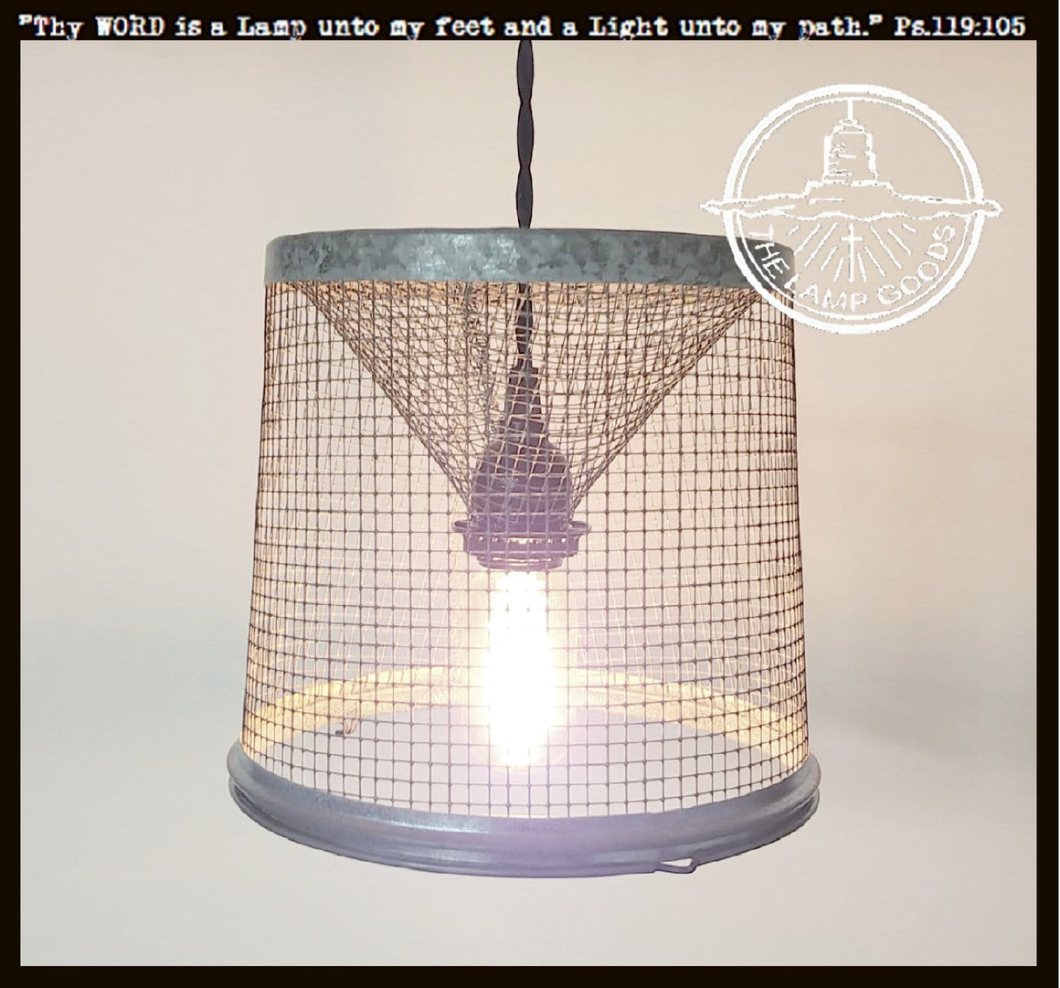 Fishermen's Wire Basket Pendant Light - The Lamp Goods