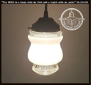 Vintage Frost & Clear PENDANT Light - The Lamp Goods