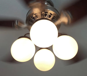 Ceiling Fan LIGHT KIT of Modern Milk Glass Globes - The Lamp Goods
