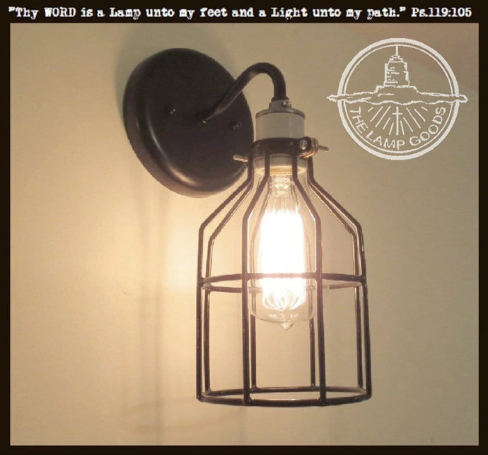 Industrial Wall Sconce Light with Edison Bulb - The Lamp Goods
