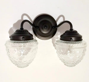 Island Falls Double Wall Sconce Light Fixture - The Lamp Goods