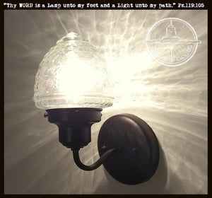 Island Falls. Glass Torch Wall Sconce Light Fixture - The Lamp Goods