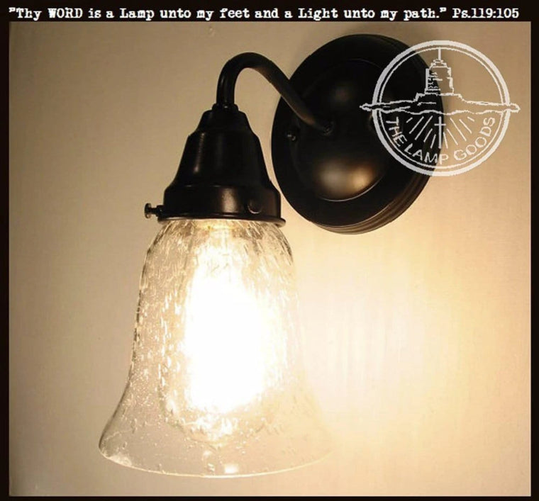 Seeded Glass SCONCE Light