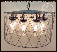 Load image into Gallery viewer, Large Mason Jar CHANDELIER 10-Light Fixture - The Lamp Goods