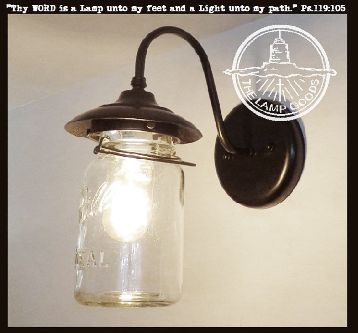 Exterior Outdoor Mason Jar Wall Sconce Light With Vintage Jar The Lamp Goods