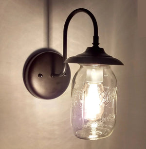 Mason Jar Outdoor Exterior Porch Wall SCONCE Light - The Lamp Goods