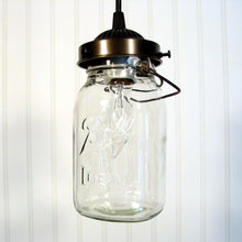 Load image into Gallery viewer, Mason Jar PENDANT Light Vintage Quart - The Lamp Goods