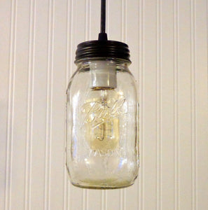 Mason Jar Pendant Light NEW Quart - The Lamp Goods