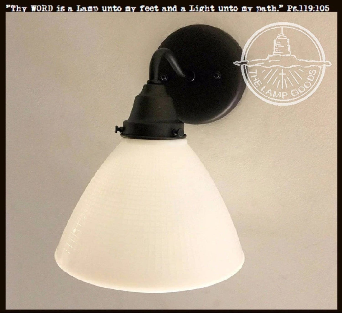 Milk Glass Wall SCONCE Light Fixture - The Lamp Goods
