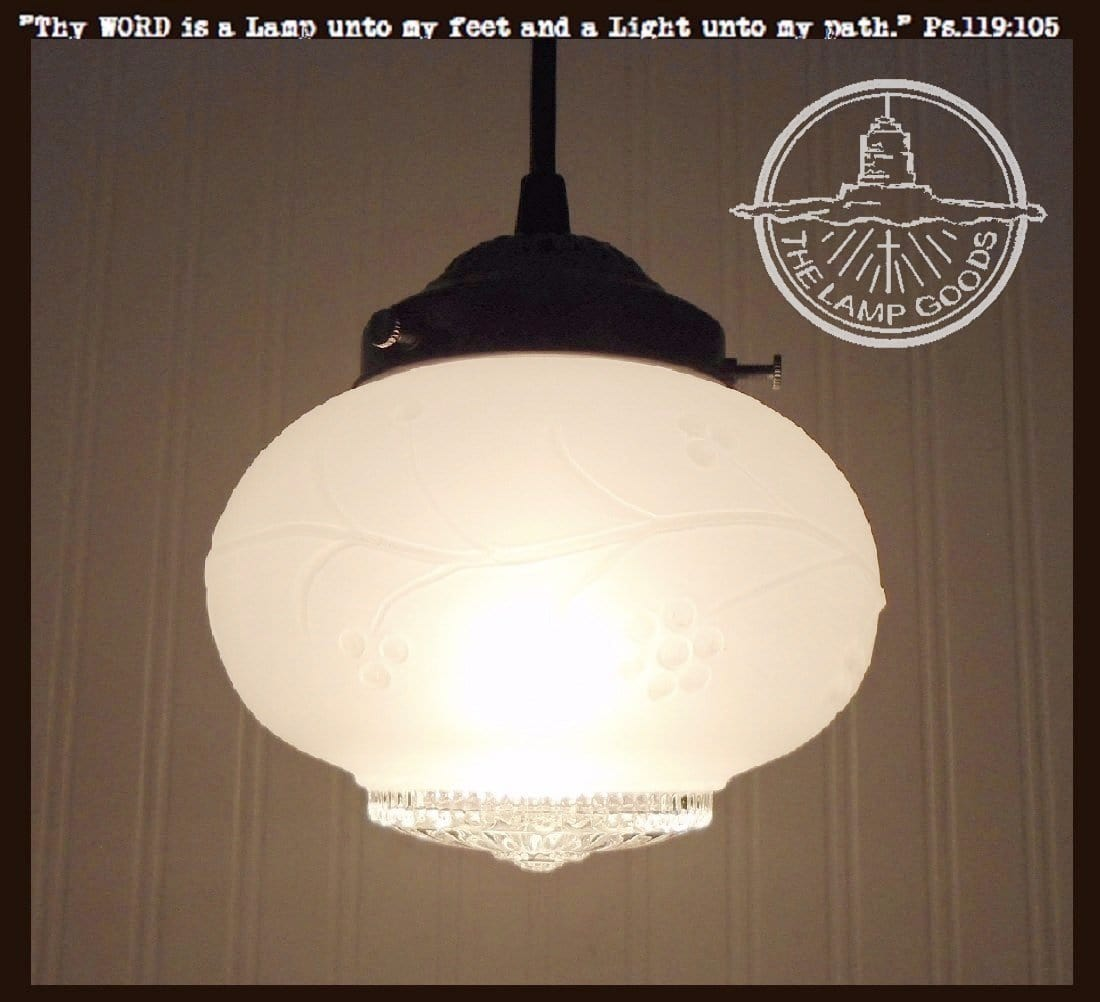 Milk Glass Light Fixtures