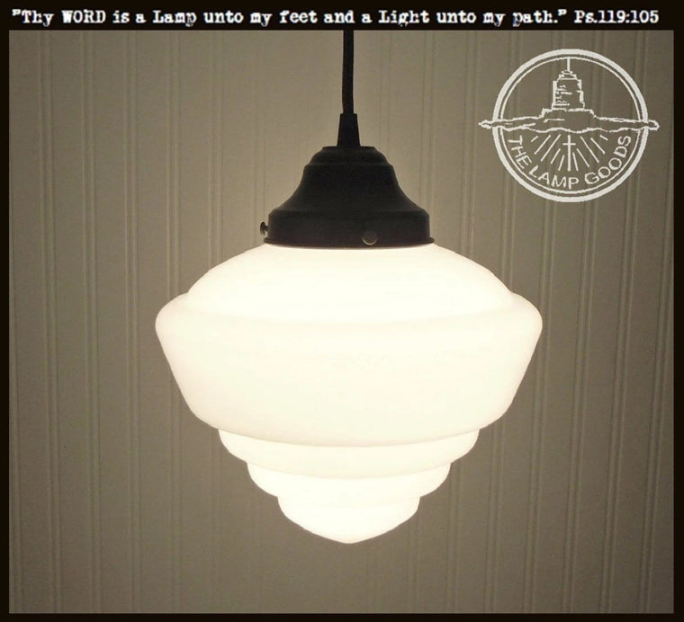 Milk glass pendant lights milk glass schoolhouse lighting pendant light fixture school house the lamp goods aloadofball