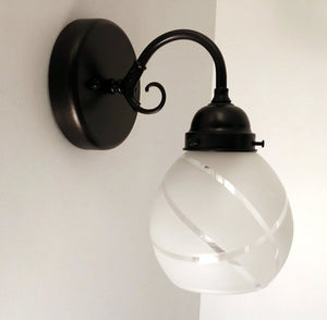 Vintage Modern Glass Wall Sconce Light