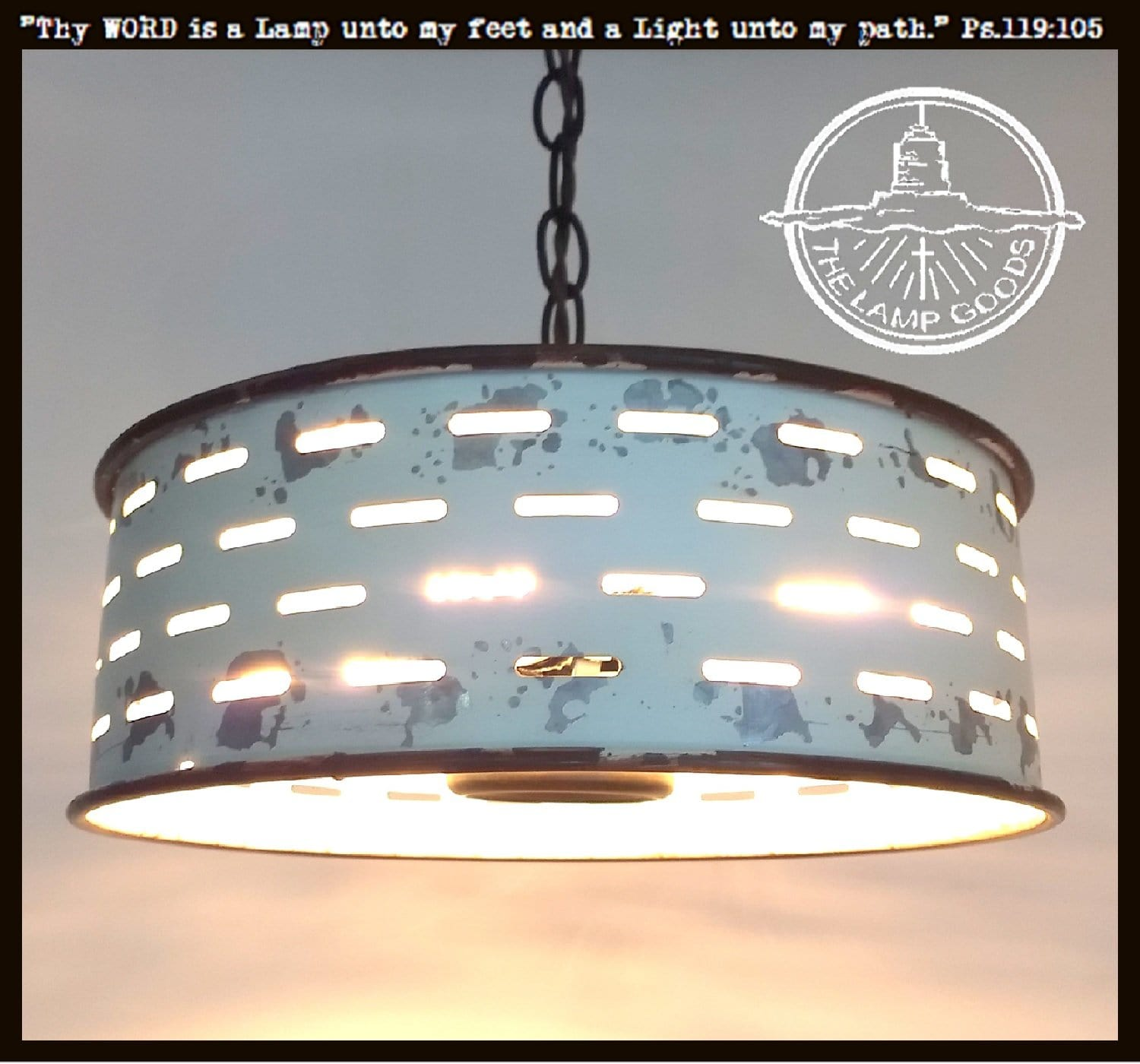 finest selection f9353 d8591 Rustic Galvanized Ceiling Light Farmhouse Fixture Chippy White