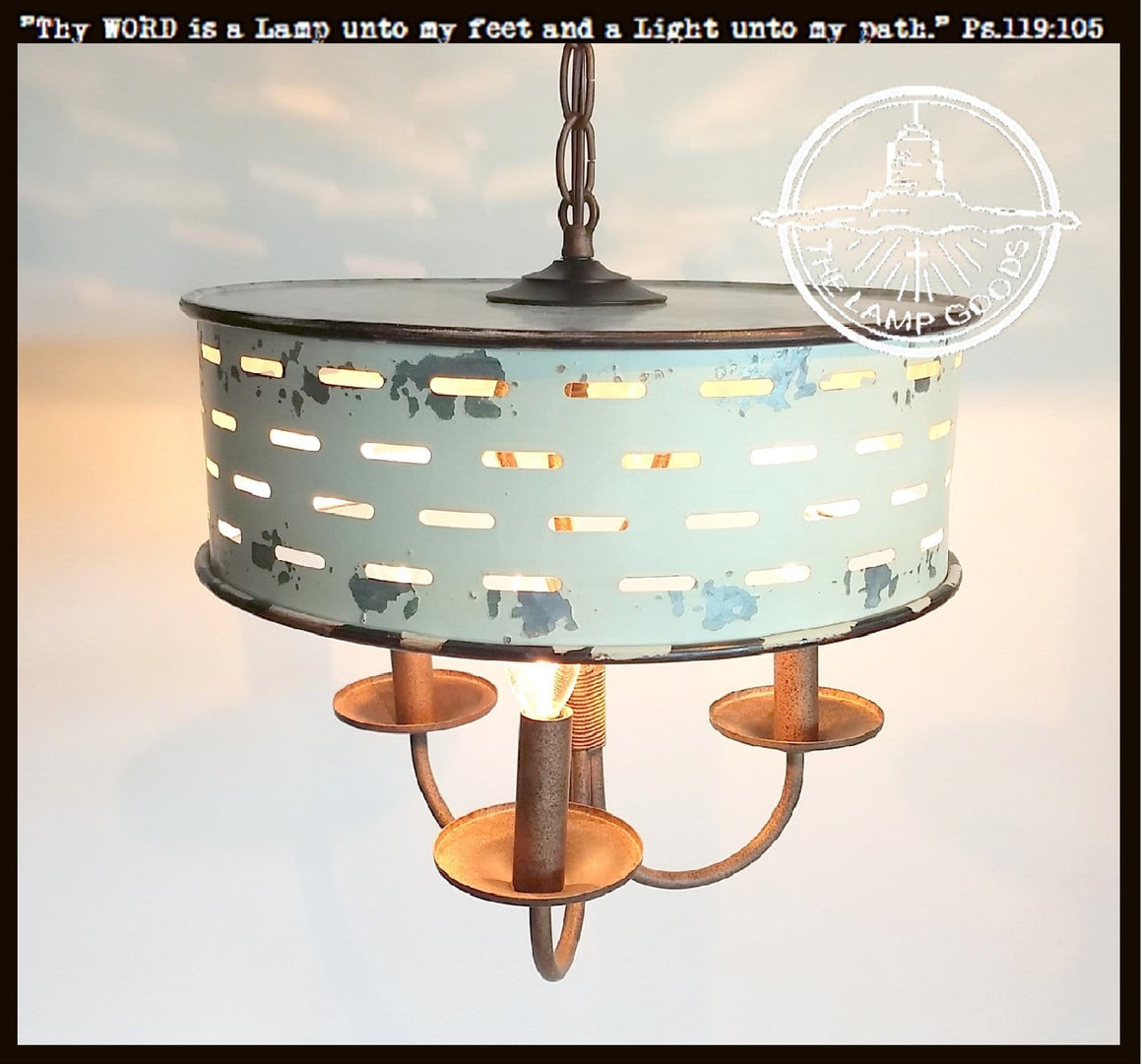 Shabby Chic Chippy White Chandelier Light Fixture