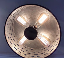 Load image into Gallery viewer, Galvanized Metal Ceiling Light Farmhouse Fixture - The Lamp Goods