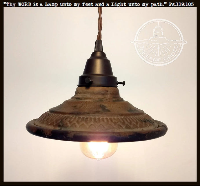 Rustic INDUSTRIAL Pendant Light - The Lamp Goods