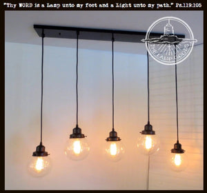 Seeded CHANDELIER Pendant Lights 5-Light Seeded - The Lamp Goods