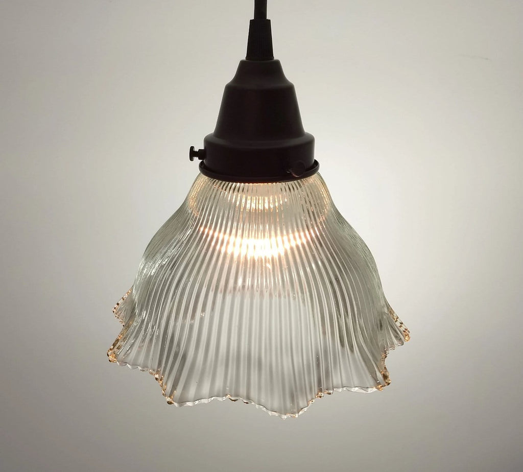 Vintage Holophane PENDANT Light - The Lamp Goods