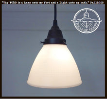 Load image into Gallery viewer, Charming Pendant Light of Vintage Milk Glass - The Lamp Goods