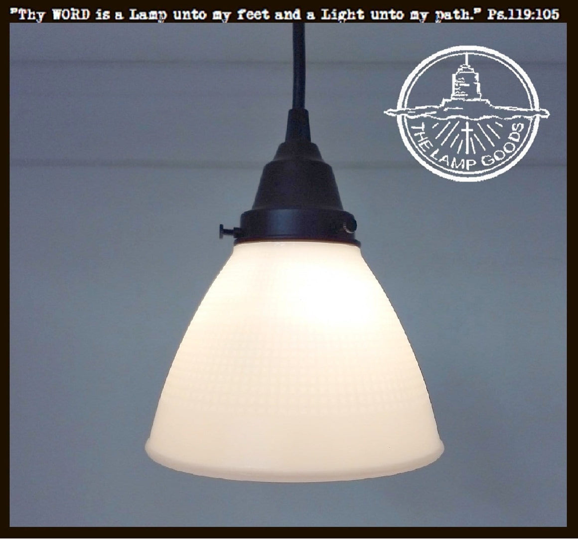 Charming Pendant Light of Vintage Milk Glass - The Lamp Goods