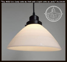 Load image into Gallery viewer, Vintage Milk Glass PENDANT Light - The Lamp Goods